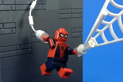 A Friendly Neighbor (MrKjito) Tags: lego super hero peter parker spider man civil war captain america streets new york avenger team iron suit web shooter webs neighbor marvel cinematic universe comic