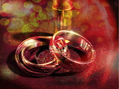 Choose Love or War (clarkcg photography) Tags: rings wedding ammo bullet shell war love symbolic lovevswar makelovenotwar flickrfriday saturated modified slidersunday
