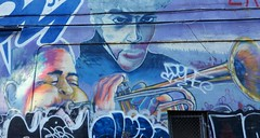 Toronto Street Art (jmaxtours) Tags: prince dizzygillespie dizzy purple purplerain rip trumpet horn art streetart torontostreetart graffiti toronto torontoontario