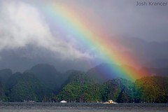 Rainbow over Coron, Philippines (joshkrancer) Tags: tourism paradise tropical water boat weather philippines palawan coron rainbow