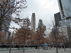 9-11 Memorial Pools (footprints of original two towers) New York November 2016 (364) (Richie Wisbey) Tags: 911 september 2001 two twin towers world trade center centre ground zero memorial tribute survivor tree downtown new york city usa nine eleven richard richie wisbey november 2016