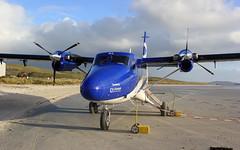 G-HIAL Viking Twin Otter Loganair (GSairpics) Tags: viking twinotter dhc6 loganair flybe aircraft aeroplane airplane beach prop barraairport terminal traighmhrbay barraeoligarryairport outerhebrides scotland ghial graham gsairpics