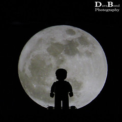 Super Moon (Dave Bond Photography) Tags: moon super lego minifig toy silhouette square