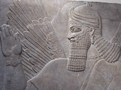 Winged Genie (Aidan McRae Thomson) Tags: nimrud relief sculpture ancient assyrian mesopotamia britishmuseum london