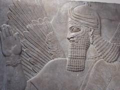 Winged Genie (Aidan McRae Thomson) Tags: nimrud relief sculpture ancient assyrian mesopotamia britishmuseum london