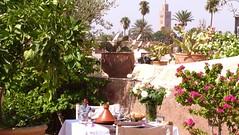 Restaurant Marocain Riad Al Ksar (riad marrakech Al Ksar Spa) Tags: medina view koutoubia