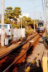 Enoden (Gai) Tags:    kamakura kanagawa japan   train  sky   blue