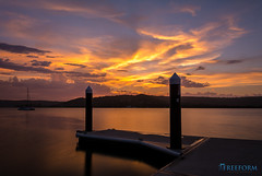 Gosford Waterfront (TMCiantar) Tags: sunset gosford nsw australia local nikon landscape water ocean boat ramp wharf jetty reflections colour sky clouds