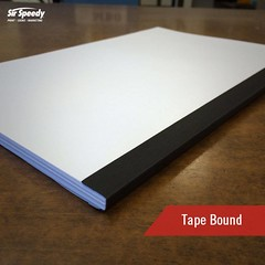 Types of Book Binding-Tape Bound (SirSpeedyIndore) Tags: bookbinding services tapebound sirspeedy