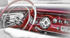 Chrysler New Yorker - 1956 (D-TaiL) Tags: chrysler new yorker convertible 1956 vintage old car dashboard selective color memory nikon d7000 dtailvision