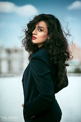 S H A M O I T A (Niladri Chatterjee) Tags: sky girl outdoor lips fashion style model face black hair 85mm suit pose gorgeous western jacket shoot nikon d800 18g