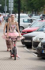 Kick Dancer (jptoivon) Tags: pink summer food woman baby girl bike festival female nikon estonia dress kick dancer skirt d800 viro balett 2015 haapsalu
