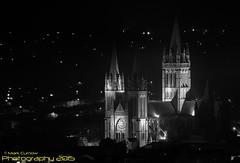 Truro Cathedral (Mark Curnow Photography) Tags: monochrome blackwhite cornwall nightlights cathedral religion truro floodlit cornish kernow trurocathedral