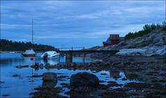 Blue Hour/Larkollen (Eline Lyng) Tags: leica longexposure sea summer nature night landscape boats boat bluehour larkollen sandandsea leicas summarits70mm