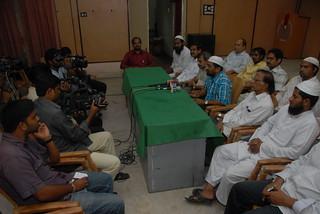 Muslim United Front Andhra Pradesh President Habeeb Ur Rehman addressing the Press Meet on Babri Masjid Judgement day 2