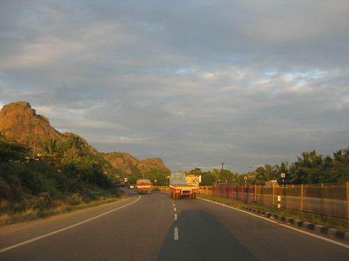 On the way to Mahabalipuram from Bangalore