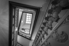 A regal design (McQuaide Photography) Tags: blackandwhite bw building monochrome architecture stairs photoshop canon copenhagen denmark eos mono blackwhite carved europe interior royal wideangle indoor palace carving staircase danish handheld fullframe ornate slot dslr scandinavia danmark 1740mm regal kbenhavn lightroom 6d neobaroque wideanglelens lseries northerneurope slotsholmen 17mm baluster christiansborgslot christianborgpalace regionhovedstaden canon6d capitalregionofdenmark mcquaidephotography