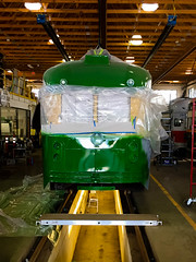 Kenosha 4617 San Francisco Work in Progress (Bulzi) Tags: sf sanfrancisco vintage streetcar kenosha pcc 4617 kenoshaelectricrailway