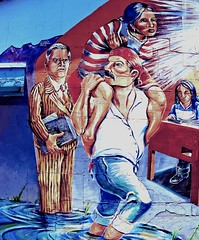 The Crossing (twbphotos) Tags: mural crossing immigrants barrio twbphotos