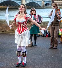 Dancing Girl (hellbentharry) Tags: london dancing southbank morris