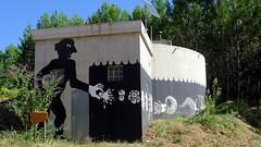 l'volution des espces 2 (YOUGUIE) Tags: graffiti graff animaux fresque cvennes zooproject volutiondesespces bilalberreni