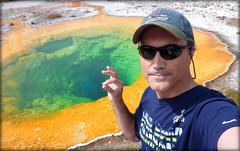Yellowstone National Park - 11 (Farhad) (FarhadFarhad .(Farhad Jahanbani)) Tags: park morning me glory national yellowstone wyoming selfie