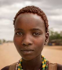 Woman, Hamar Tribe, Ethiopia (Rod Waddington) Tags: africa portrait woman face female beads village native african traditional valle tribal afrika omovalley ethiopia tribe ethnic hairstyle hamar hamer ethnicity homelands villager afrique ethiopian omo etiopia demeka
