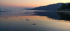 twilight mirroring in the beach (aid85) Tags: sunset summer beach night hope twilight sand tramonto mare time border acqua spiaggia ending specchio crepuscolo ventimiglia mirroring calandre seasunset