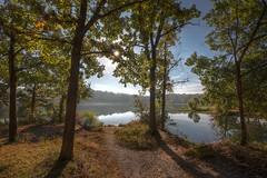 Autumn Lakeside Morning (KC Mike Day) Tags: county morning sun lake fish fishermen turtle path cove ground dirt burst wyandotte