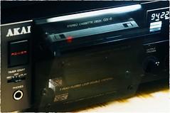 GX-6 open/close (pintzu) Tags: vintage stereo akai cassettedeck oldhifi