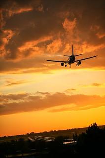 Landung am Flughafen Berlin Tegel (TXL)