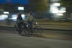 Amsterdam (kwamej) Tags: city blue motion blur amsterdam bicycle cyclists cityscape citylife cycle pan panshot