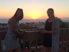 Kiwi Girls Rooftop Sunset