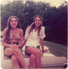 Teen girls, 1974 (STUDIOZ7) Tags: girls summer woman cars automobile teen teenager 70s 1970s seventies teenage