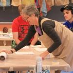 An art demonstration during class.