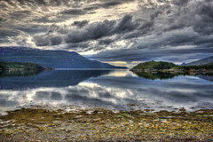 Slow blur (mephistofales) Tags: mountains reflection norway clouds norge scandinavia drama hdr highdynamicrange fjords photomatix