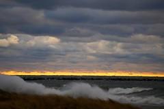 Waves at the shoreline (rkramer62) Tags: lakemichigan galesofnovember muskegonmichigan rkramer62 peremarquetteparkbeach shorelinesplash