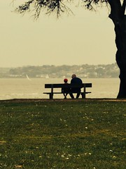 Smith & son (philsmith238) Tags: cliff beach bench father son isleofwight iow lepe