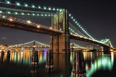 Brooklyn Bridge at Night, New York City (Care Magazin) Tags: city nyc longexposure newyork brooklyn night manhattan dumbo tokina1224 southstreetseaport brooklynbridge manhattanbridge eastriver williamsburgbridge nikoncapturenx nikond90
