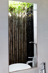 Outdoor Shower at Tamu Hotel, Sihanoukville, Cambodia (Yooch) Tags: reflection water bathroom shower hotel mirror droplets drops cambodia sihanoukville outdoor tamu