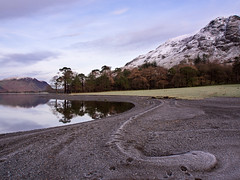 Frozen Buttermere serpent (alf.branch) Tags: lake reflection water clouds landscape lakes lakedistrict olympus cumbria zuiko buttermere refelections calmwater westcumbria westernlakes cumbrialakedistrict olympusomdem5 zuiko1250mmlens