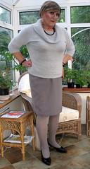 IMG_5010-001 (fionaxxcd) Tags: crossdressing bust tranny transvestite crossdresser stilettoes trannie mtf m2f pencilskirt blacknailvarnish greytights rollnecksweater