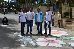 DSC_0059 (Al Ahliyya Amman University) Tags: street flowers students colors painting colorful university pretty time weekend president amman happiness jo jordan characters aau joyful       ccbysa  ahliyya          balqa      alsaro