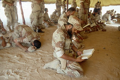 0000258267-020 (jr7een) Tags: people male men soldier reading asia adult military muslim islam religion praying group middleeast arab arabia kuwait groupofpeople saudiarabia armedforces persiangulfwar militarypersonnel persiangulfstates southwestasia saudiarabian saudiarabianarmedforces middleeasternethnicity middleeasternculture