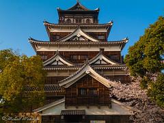 Hiroshima Castle (Sound Quality) Tags: flowers castle history japan museum architecture canon spring unesco hiroshima 桜 日本 sakura cherryblossoms museo canong6 春 広島 tokugawa はる さくら 徳川 wwwmichaelwashingtonaecomhttpwwwflickrcomphotosmichaelwashingtonphotography