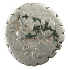 Caesar Naevius Balbus, 79 BC rev (Welcome to The PAST) Tags: hammered treasure roman brooch medieval hoard republican ironage fibula denarius denarii