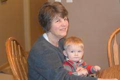Grandmother and Grandson (Tobyotter) Tags: christmas jesse grandmother grandson trudy kinney 2015
