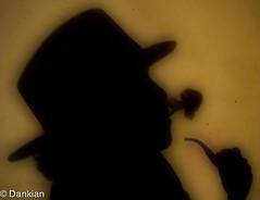 smoke1 (Dank1an) Tags: shadow portrait me hat silhouette contrast shadows smoke pipe smooth highkey