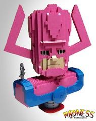 The Devourer (Dodge...) Tags: lego slug 2016 galactus marvel brickcon bust surfer pink character