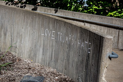 Love Trumps Hate (Phil Roeder) Tags: iowa canon6d canonef70200mmf4lusm iowacity universityofiowa graffiti